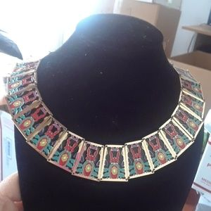 Enameled collar necklace. J12-0000